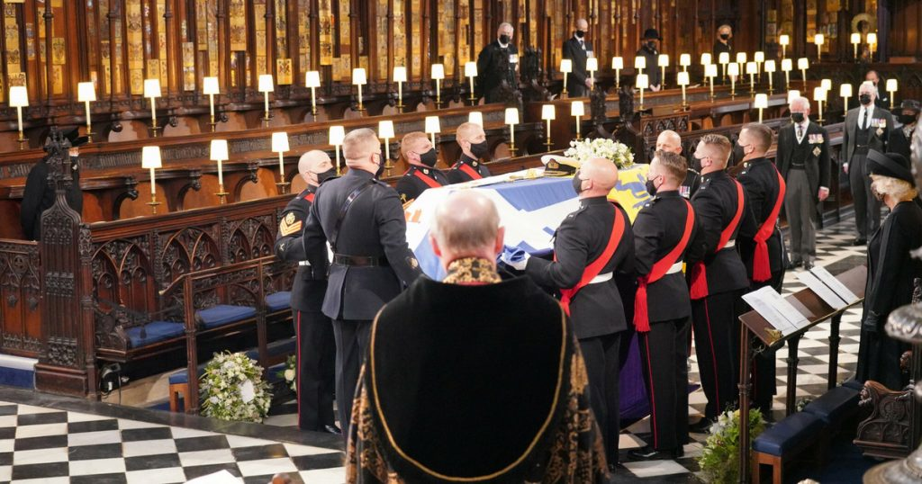The coffin will be transported with Philip's body.  The Queen decided that