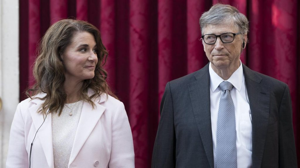 Bill Gates and Melinda Gates.  The billionaire and co-founder of Microsoft divorced his wife after 27 years