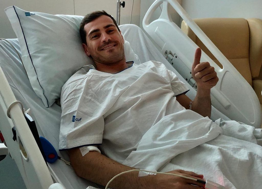 Iker Casillas was hospitalized again.  Moments of horror two years after the soccer attack